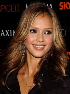 Jessica Alba Human Hair Full Lace Wig