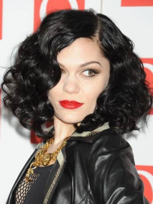 Medium Jessie J Synthetic Curly Wig