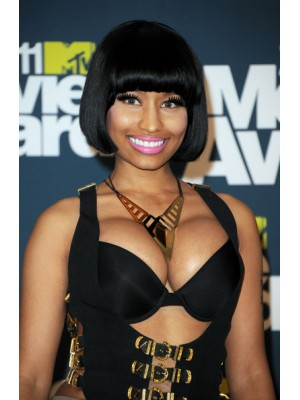 Nicki Minaj Synthetic Short Bob Wig