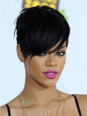 Rihanna Boystyle Fashion Short Synthetic Wig