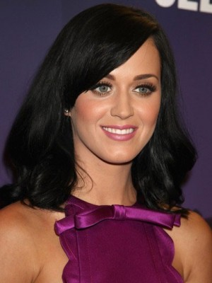 Katy Perry Long Human Hair Bob Wig
