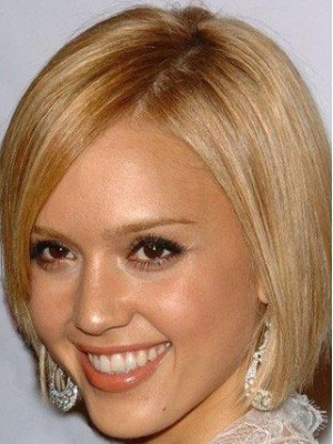 Jessica Alba Silky Straight Synthetic Full Lace Wig