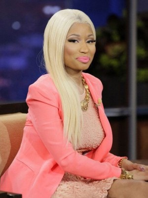 Nicki Minaj Long Sliky Straight Blonde Wig