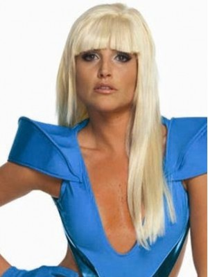 Sexy Long Straight Lady Gaga Capless Wig for Woman