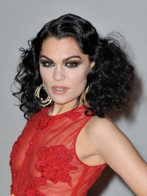 Stunning Long Curly Jessie J Synthetic Lace Front Wig