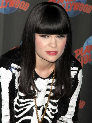 Perfect Long Straight Black Jessie J Synthetic Capless Wig