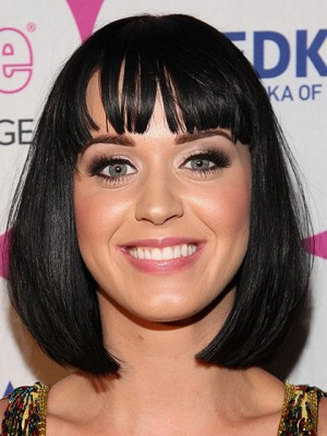 Charming Medium Straight Katy Perry Synthetic Capless Wig