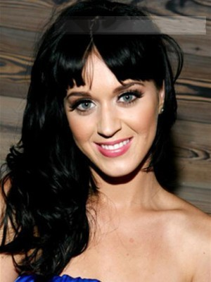 Graceful Long Wavy Katy Perry Remy Human Hair Capless Wig