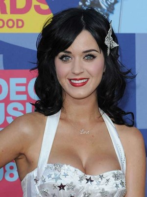 Katy Perry Long Wavy Human Hair Wig