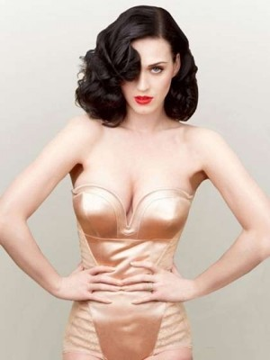 Katy Perry Medium Wavy Synthetic Wig