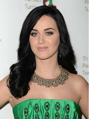 Katy Perry Long Wavy Lace Front Synthetic Wig