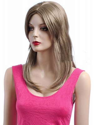 Long Lace Front Blonde Straight Synthetic Wig