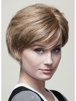 Elegant Short Straight Lace Front  Human Hair Wigs