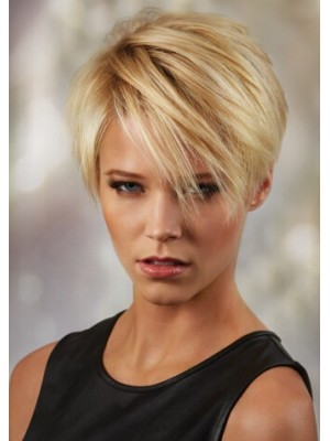 Synthetic Hair Straight Short Blonde Wig