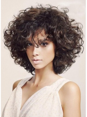 Shoulder Length Curly Capless Synthetic Hair Wigs