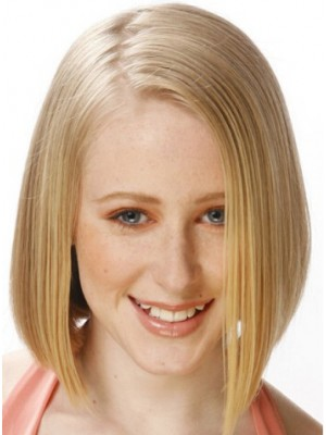 Medium Straight Formal Remy Human Hair Wig