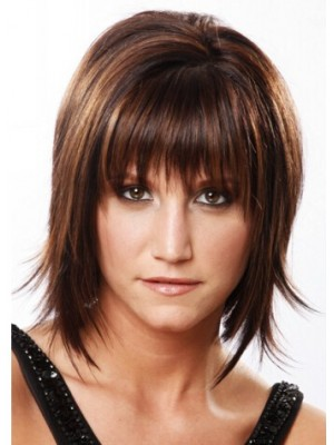 Short Straight Capless Formal Remy Human Hair Wig