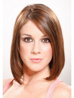 Medium Straight Lace Front Remy Human Hair Wig