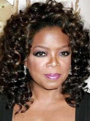 Black Short Curly Wig Oprah Curly Wig