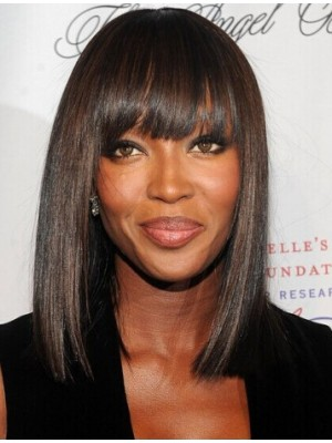 Naomi Campbell Natural Black Straight Capless Synthetic Hair Wig