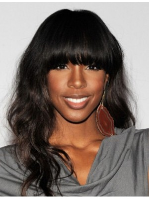 Kelly Rowland Long Wavy Capless Synthetic Wig