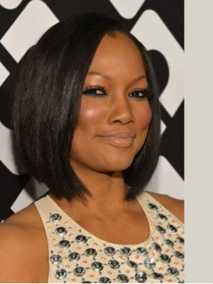 Garcelle Beauvais Graduated Black Bob Wig