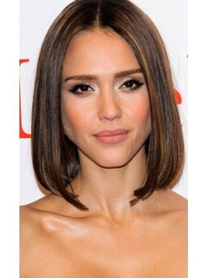 Jessica Alba Medium Straight Wig