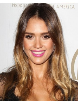 Jessica Alba Full Lace Wavy Remy Human Hair Wig