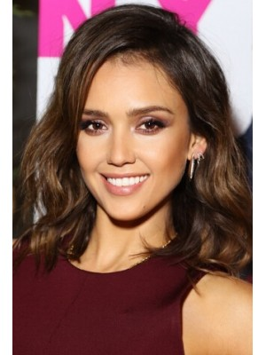 Jessica Alba Medium Full Lace Remy Human Hair Wig