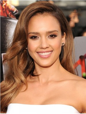 Jessica Alba Wavy Full Lace Remy Human Hair Wig