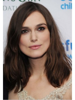 Keira Knightley Human Hair Medium Wavy Cut Wig