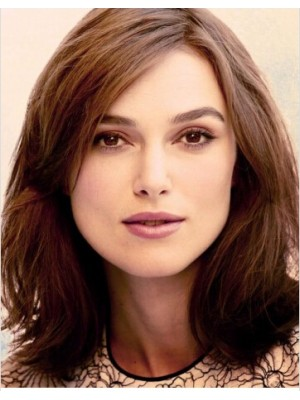Keira Knightley Chesnut Brown Hair Color Wig