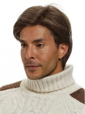 Classic Short Straight Human Hair Wig for Man