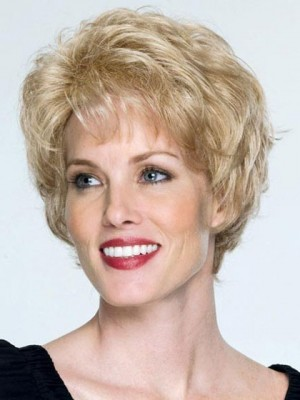 Chic Short Waves Capless Remy Human Hair Wig