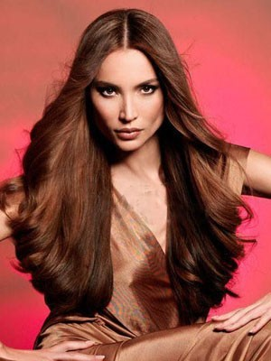 Fashionable Long Wavy Human Hair Full Lace Wig