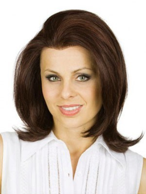 Chic Straight Lace Front Brazilian Remy Hair Wig