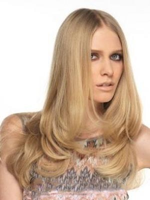 Attractive Human Hair Straight Lace Front Wig