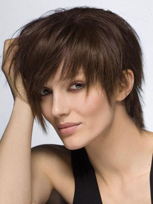 Attractive Human Hair Straight Capless Wig