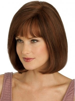 Graceful Mid-Length Full Lace With Mono Top Straight Wig