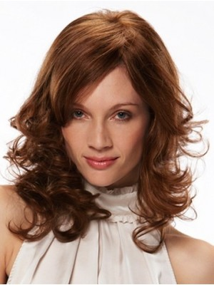 Admirable Medium Wavy Monofilament Remy Human Hair Wig