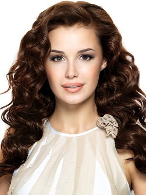 Charming Full Lace Wavy Human Hair Wig