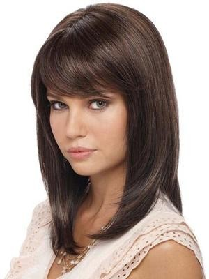 Straight Lace Front Silky Human Hair Wig