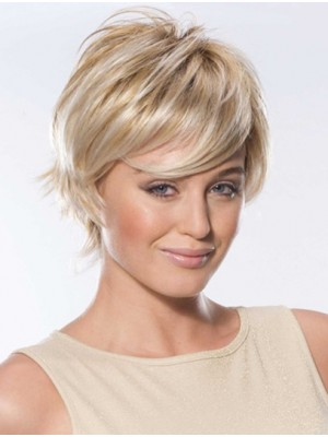 Boycuts Lace Front Straight Short Blonde Classic Remy Human Hair