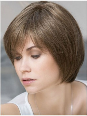 Monofilament Blonde Straight  Chin Remy Human Hair