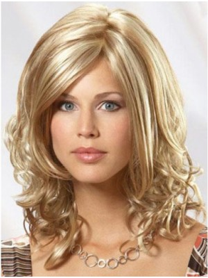 Blonde Wavy Remy Human Hair Hand-tied Wigs