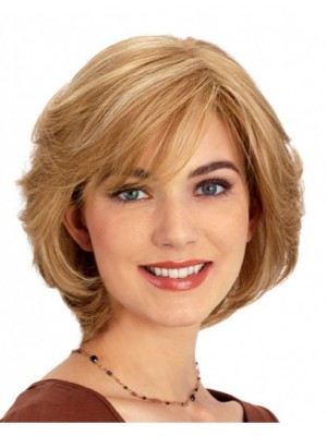 Blonde Chin Front Lace Human Hair Wigs