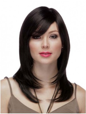Long Hand-tied Human Hair Wig