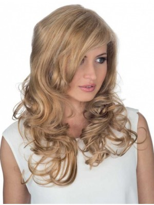 Charming Long Blonde Curly Human Hair Wigs