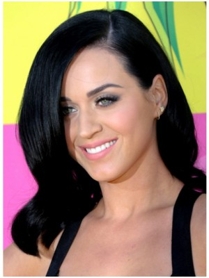 Katy Perry Natural Wavy Human Hair Wig