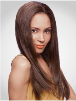 Trendy Long Human Hair Lace Front Wigs